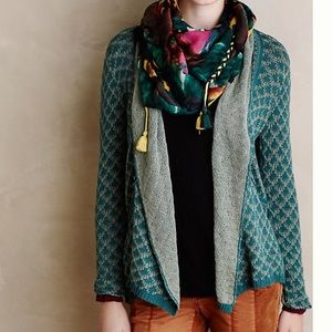 ANTHROPOLOGIE KNITTED & KNOTTED ISLAY CARDIGAN S